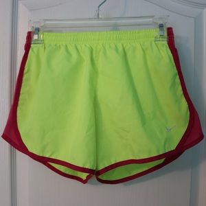 Yellow and Pink Nike running Shorts